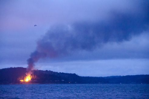 hut burning